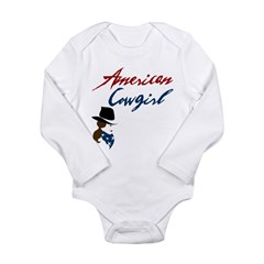 USA Cowgirl Long Sleeve Infant Bodysuit