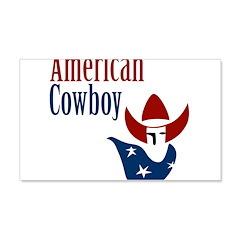 American Cowboy 22x14 Wall Peel