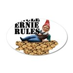 Gnomes and Cookies 22x14 Oval Wall Peel