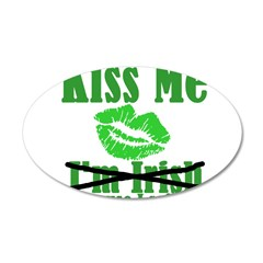 Kiss Me 38.5 x 24.5 Oval Wall Peel