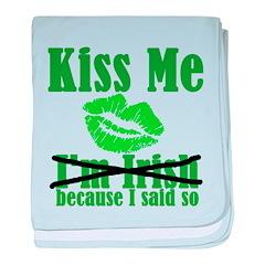 Kiss Me baby blanket
