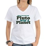 Pluto Was A Planet Women's V-Neck T-Shirt