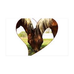 Horse Love 38.5 x 24.5 Wall Peel