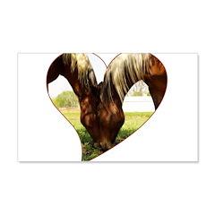 Horse Love 22x14 Wall Peel