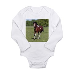 Pinto Foxtrotter Long Sleeve Infant Bodysuit