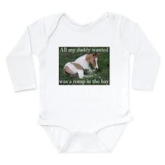 Sleeping foal Long Sleeve Infant Bodysuit