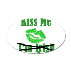 Kiss Me 38.5 x 24.5 Oval Wall Peel