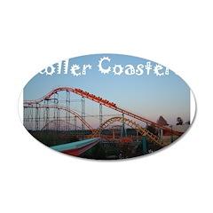 Sunset Coasters 38.5 x 24.5 Oval Wall Peel