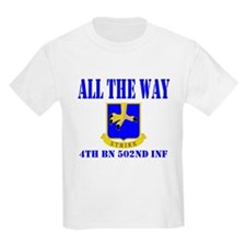 All The Way 4th Bn 502nd Inf T-Shirt