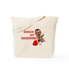 Barack my Valentine Tote Bag