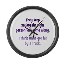 The Right Person Large Wall Clock