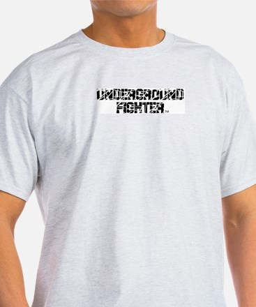 Underground Fighter Ash Grey T-Shirt