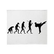 The Evolution Of Karate Throw Blanket
