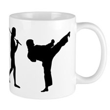 The Evolution Of Karate Small Mug
