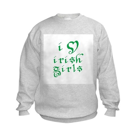 i love irish girls Kids Sweatshirt