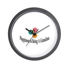Happy Grandma Wall Clock