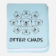 Otter Chaos Baby Blanket