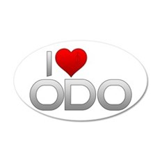 I Heart Odo 22x14 Oval Wall Peel