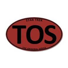 Star Trek: TOS Red Oval 22x14 Oval Wall Peel