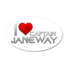 I Heart Captain Janeway 22x14 Oval Wall Peel