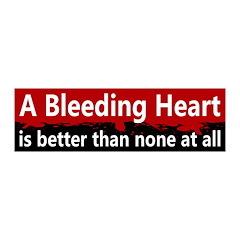 Bleeding Heart Bloody 20x6 Wall Peel Decal