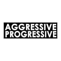 Aggressive Progressive wall peel graphic decal