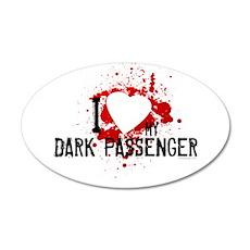 I Heart My Dark Passenger 22x14 Oval Wall Peel