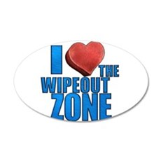 I Heart the Wipeout Zone 22x14 Oval Wall Peel