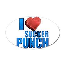 I Heart Sucker Punch 38.5 x 24.5 Oval Wall Peel