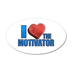 I Heart the Motivator 38.5 x 24.5 Oval Wall Peel