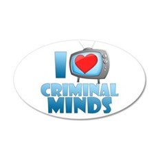I Heart Criminal Minds 22x14 Oval Wall Peel