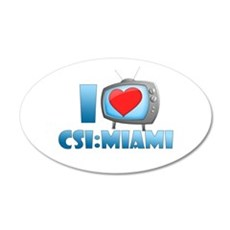 I Heart CSI: Miami 22x14 Oval Wall Peel