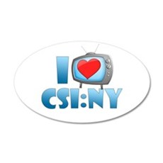 I Heart CSI: NY 22x14 Oval Wall Peel
