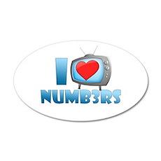 I Heart Numb3rs 22x14 Oval Wall Peel