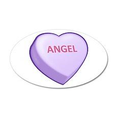 Angel Candy Heart 22x14 Oval Wall Peel