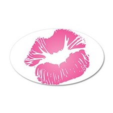 Big Pink Lips 22x14 Oval Wall Peel