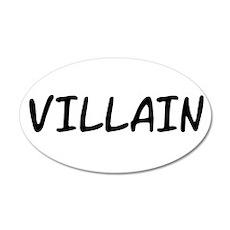 VILLAIN 22x14 Oval Wall Peel