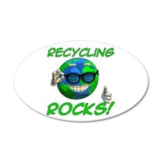 Recycling Rocks! 22x14 Oval Wall Peel