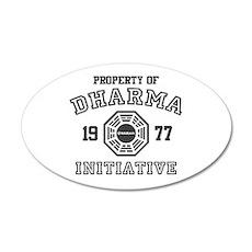 Property of Dharma Initiative 22x14 Oval Wall Peel
