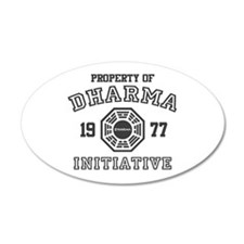 Property of Dharma Initiative 38.5 x 24.5 Oval Wal