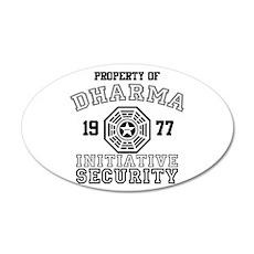 Dharma Initiative - Security 22x14 Oval Wall Peel