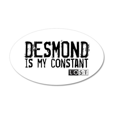 Desmond Is My Constant 38.5 x 24.5 Oval Wall Peel