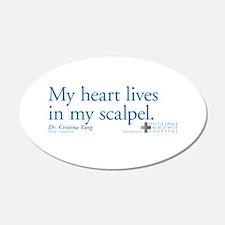 Heart Lives in My Scalpel 22x14 Oval Wall Peel