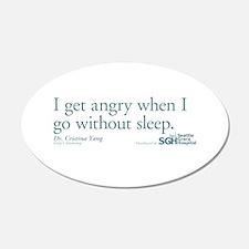 I get angry... - Grey's Anato 22x14 Oval Wall Peel