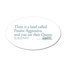 Passive Aggressiva - Grey's 22x14 Oval Wall Peel