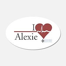 I Heart Alexie - Grey's Anato 22x14 Oval Wall Peel