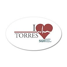 I Heart Torres 22x14 Oval Wall Peel