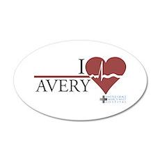 I Heart Avery - Grey's Anatom 38.5 x 24.5 Oval Wal