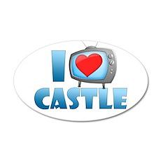 I Heart Castle 22x14 Oval Wall Peel