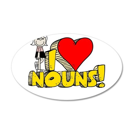 I Heart Nouns 22x14 Oval Wall Peel